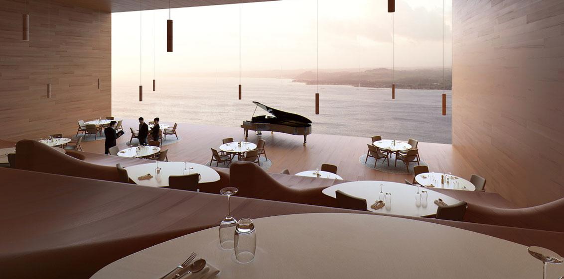 Table Cape Resort restaurant render | © Silvester Fuller