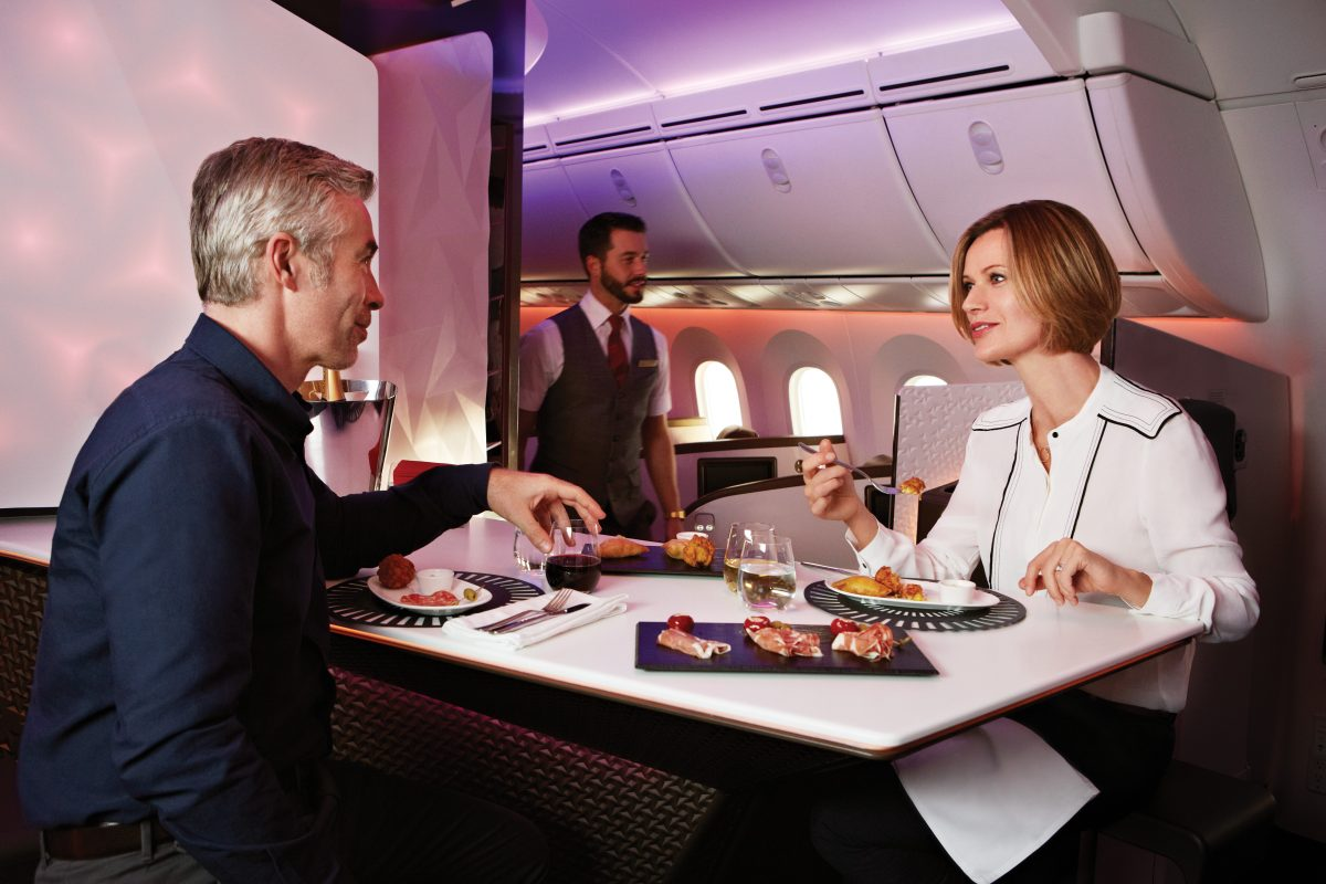 Flying first class on virgin