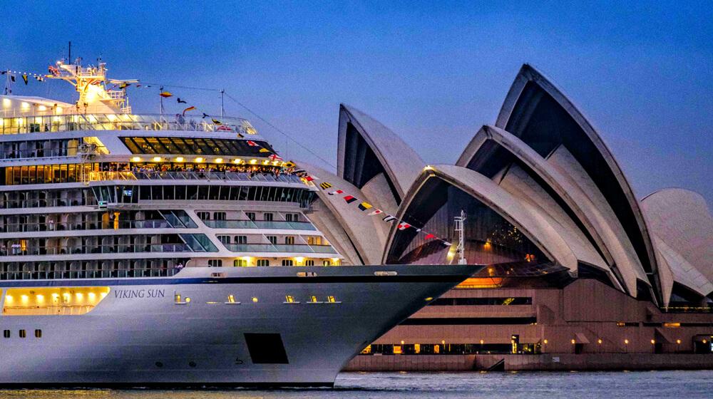 Viking Sun In Sydney Harbour Latte Luxury News