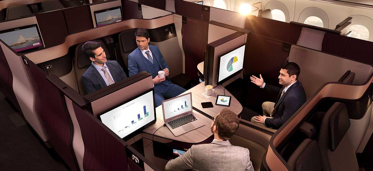 Qatar Airways Brings Revolutionary Qsuite Business Class Seat To Chicago Latte Luxury News