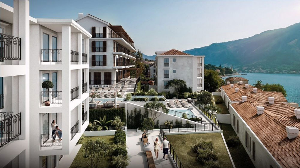 Allure palazzi kotor bay june opening latte luxury news for Hotel design kotor