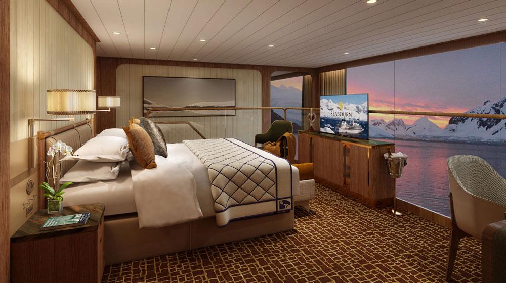 Seabourn expedition ships - Wintergarden Suite Bedroom