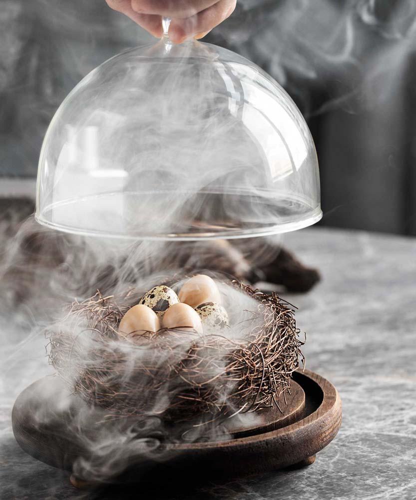 Smoked quail eggs at VEA, in Hong Kong's Central district | Image Credit: Jonathan Maloney