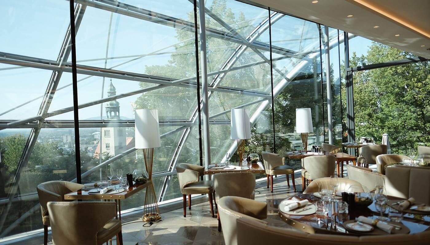 Glass Garden at Hotel Schloss Mönchstein