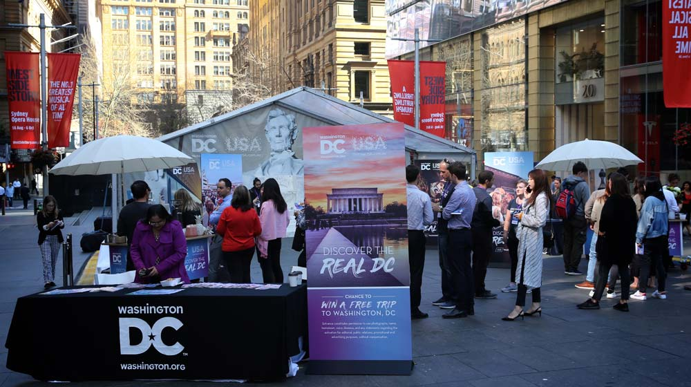 Destination DC's street activation in the heart of Sydney's CBD at Martin Place