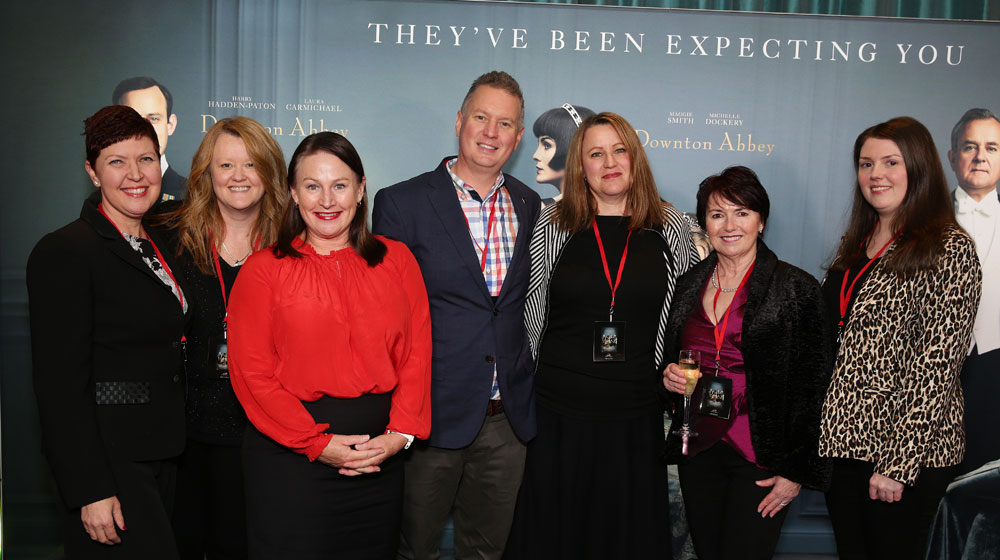 Naomi Liss and Nicole Ginger from TravelManagers, Kim Vaughan from Viking, Alex and Aija Ruggero from Travelrite Balwyn and Lauren and Jeanne Oakley from Travelrite International