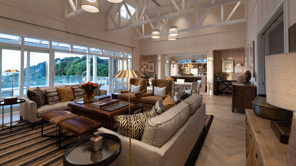 The Residences at Kauri Cliffs | Open plan Living and Dining Area