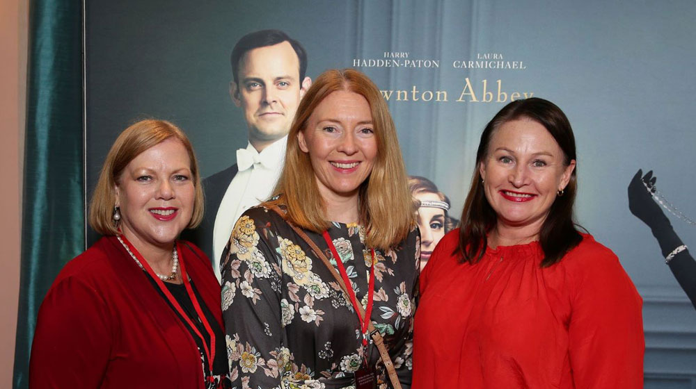 In Melbourne, Julie Hale and Elise Marrgatt from Eltham Travel and Kim Vaughan from Viking