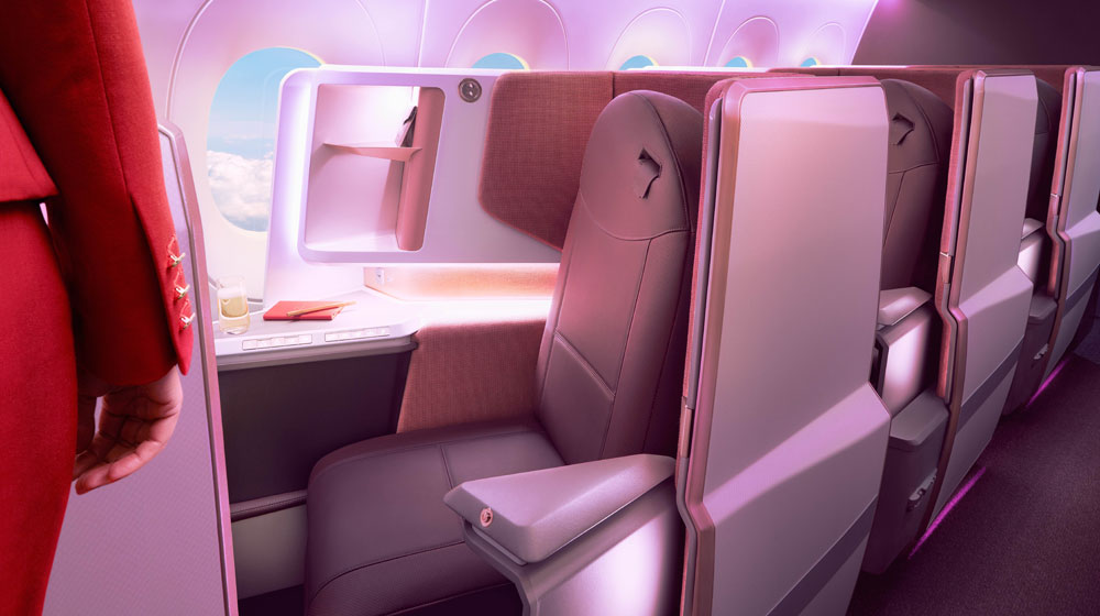 Virgin Atlantic's Airbus A350 Upper Deck