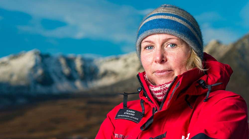 Karin Stark - Godmother of Hurtigruten's MS Roald Amundsen