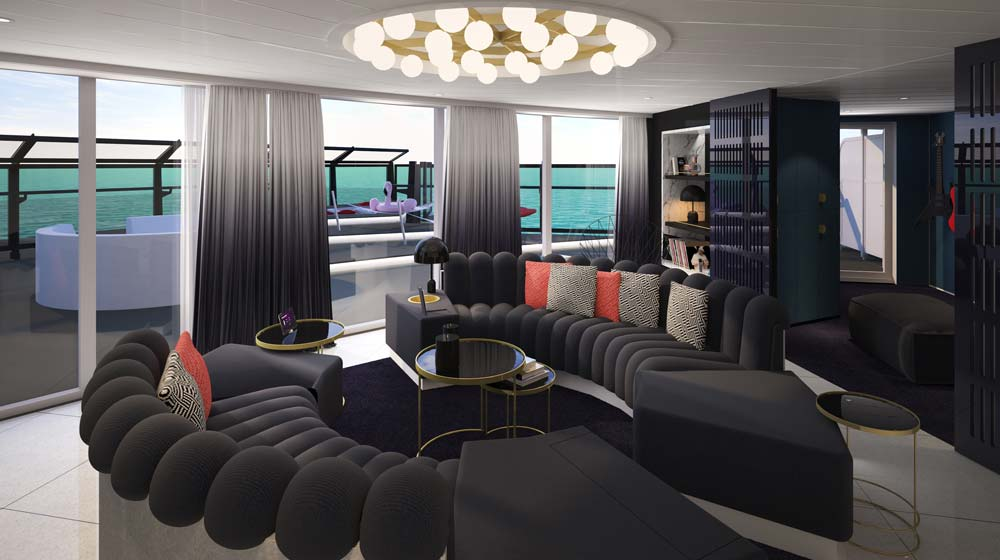 Virgin Voyages Rockstar Suite