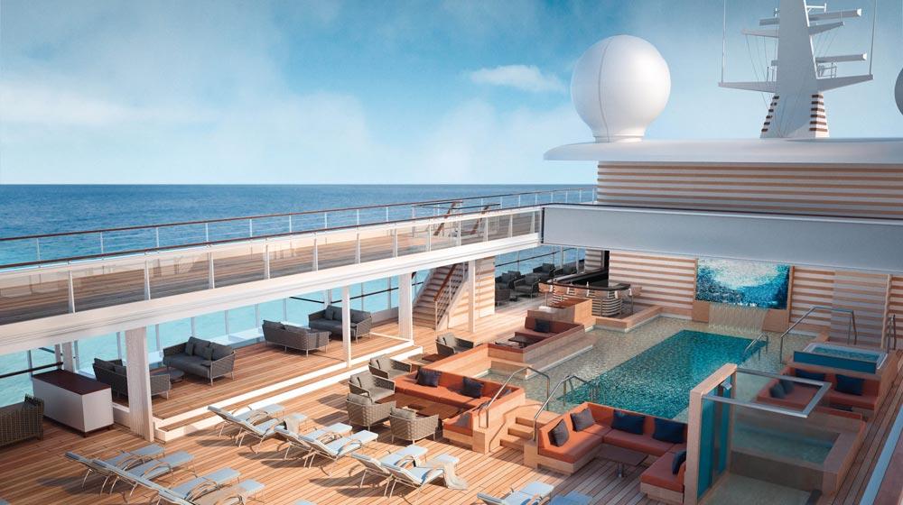 HANSEATIC nature's rooftop Pool Deck rendering