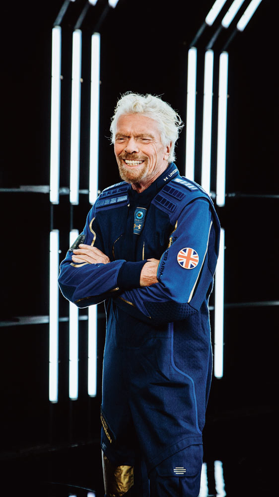 Sir Richard Branson at the launch of the Virgin Galactic Spacewear System