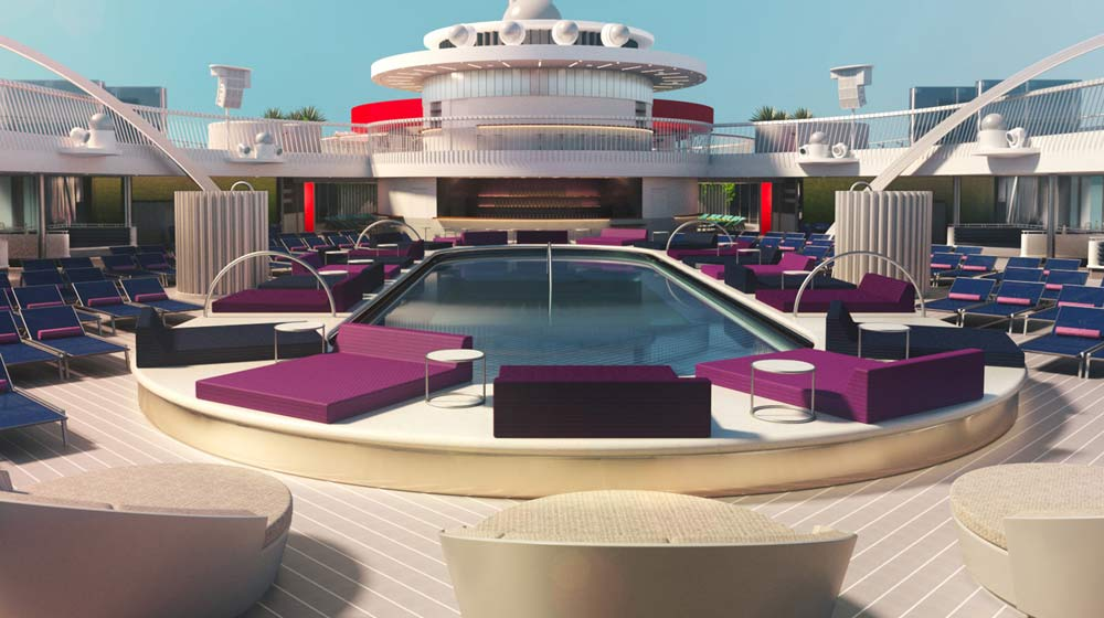 Virgin Voyages' Aquatic Club rendering