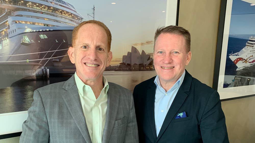 Harry Sommer with Steve Odell, Senior Vice President and Managing Director Asia Pacific for NCLH in Sydney earlier this year