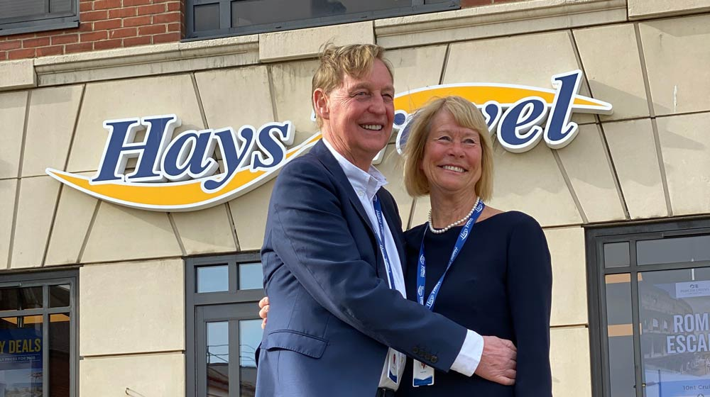 John and Irene Hays, Managing Director and Chair of Hays Travel Group