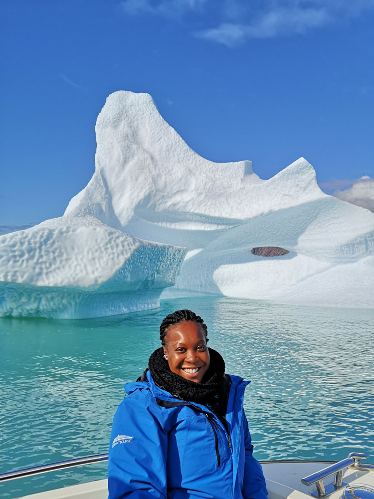 Kimolee Irving in Greenland