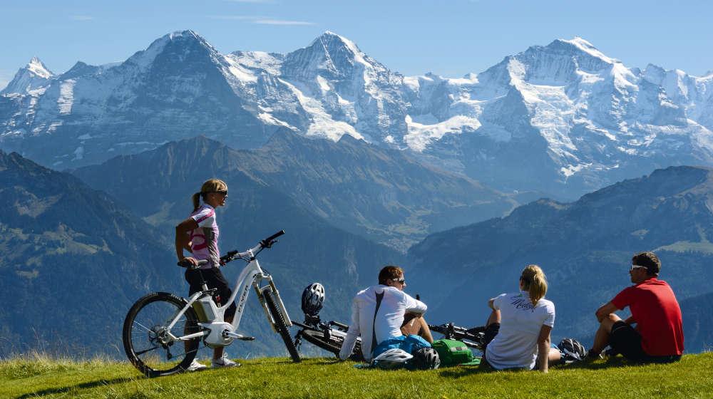 Biking through Switzerland