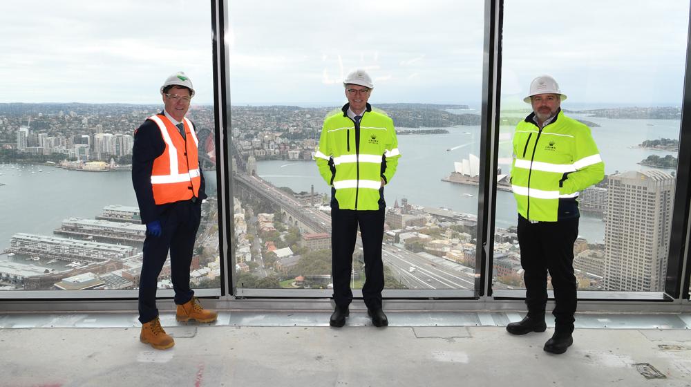 Steve McCann, Group CEO and Managing Director, Lendlease; Ken Barton CE), Crown; Todd Nisbet, EVP Strategy Development Crown