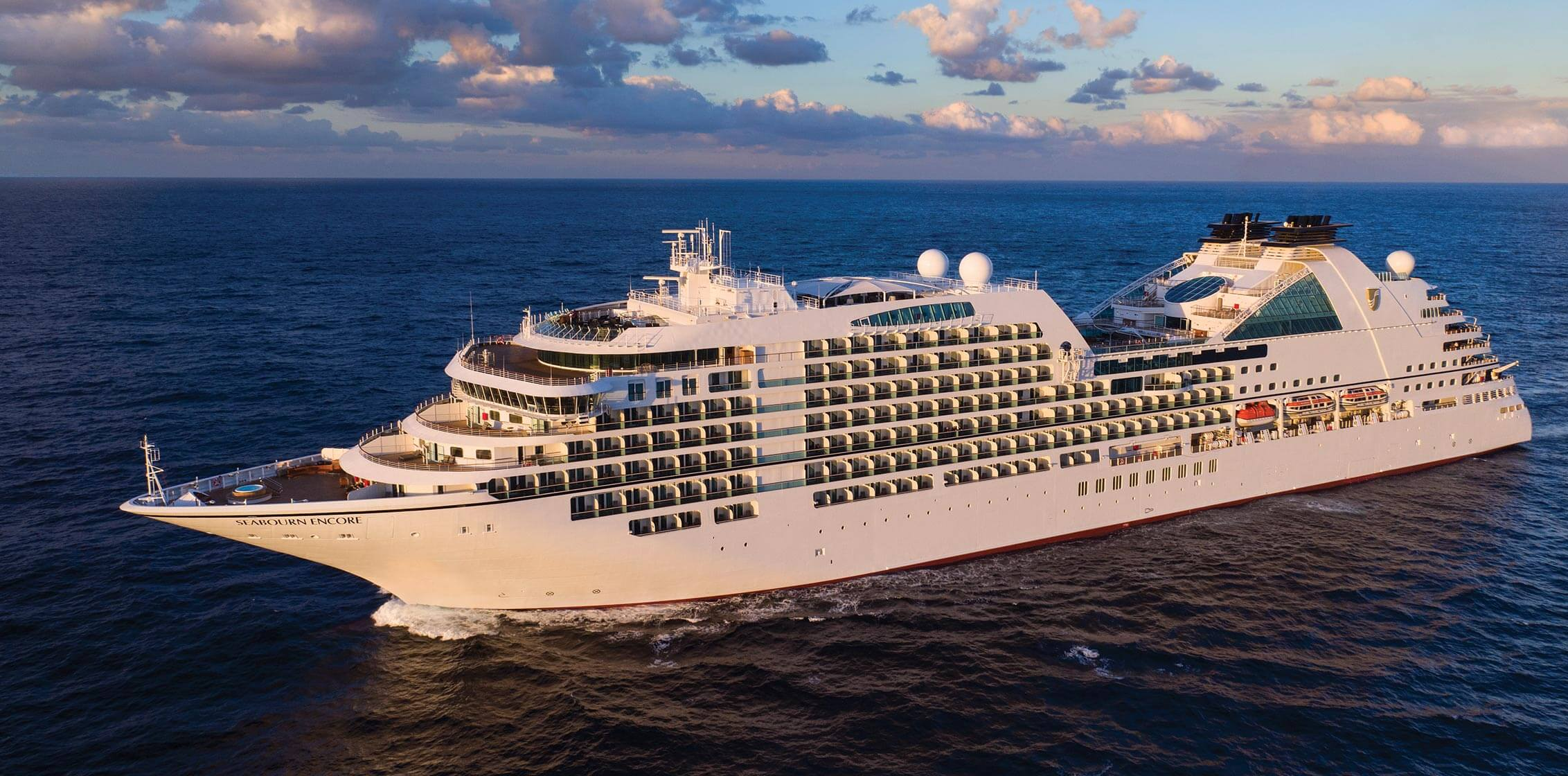 Aerial view of Seabourn Encore