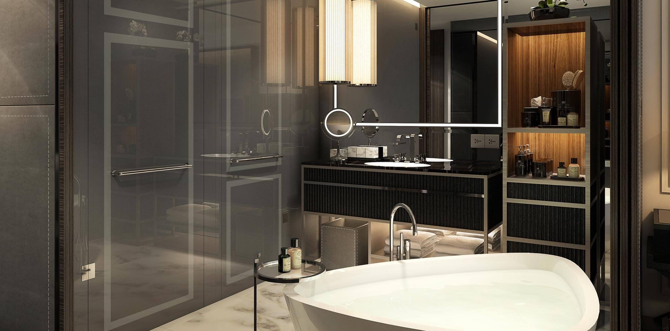 Artist Impression: Guestroom Bathroom
